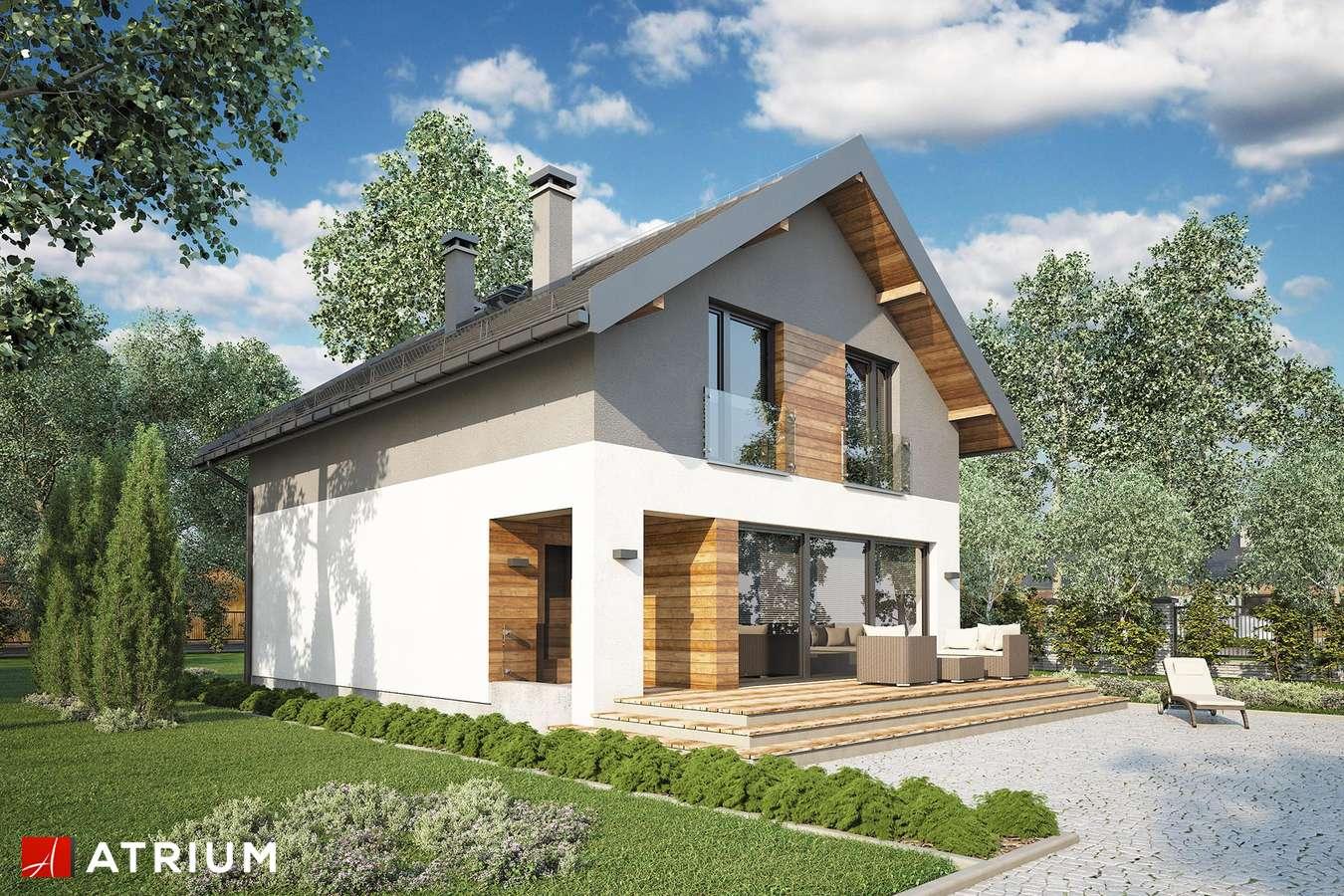Projekty domów - Projekt domu z poddaszem BERGAMO - wizualizacja 1