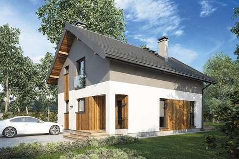 Projekt domu z poddaszem BERGAMO II - wizualizacja 1