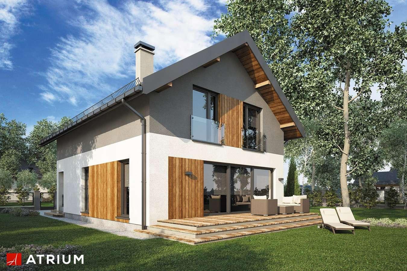 Projekty domów - Projekt domu z poddaszem BERGAMO II - wizualizacja 2