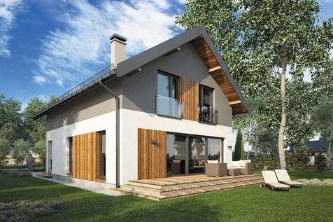 Projekt domu z poddaszem BERGAMO II - wizualizacja 2