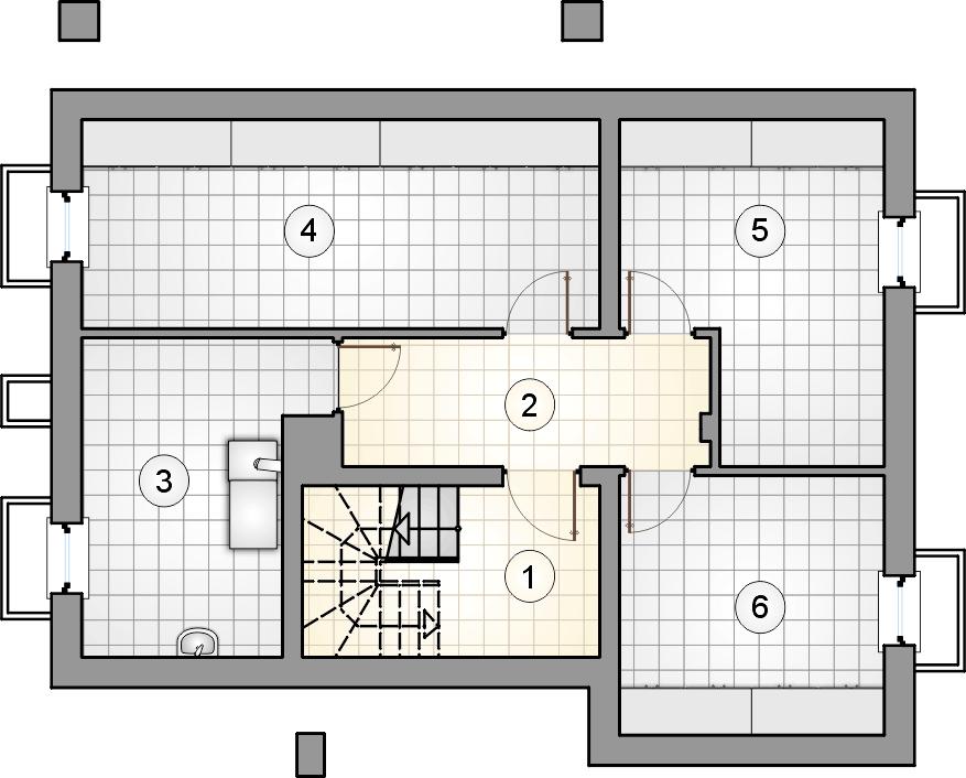 rzut piwnic - projekt Ricardo Plus SZ - wersja lustrzana