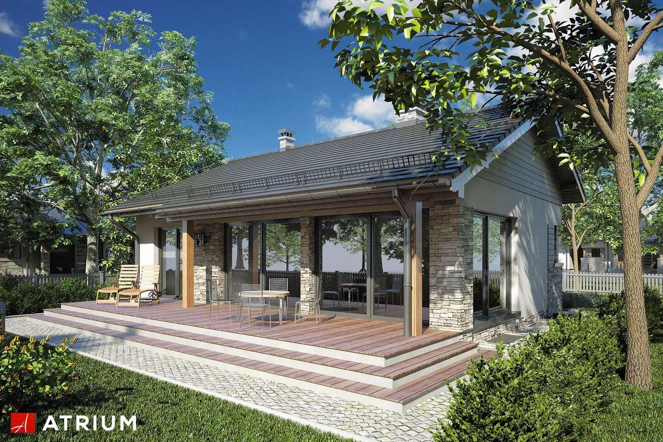 Projekty domów - Projekt domu parterowego RICARDO PLUS SZ - wizualizacja 2 - wersja lustrzana