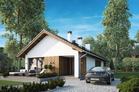 Projekt domu parterowego OLIMP II - wizualizacja 2