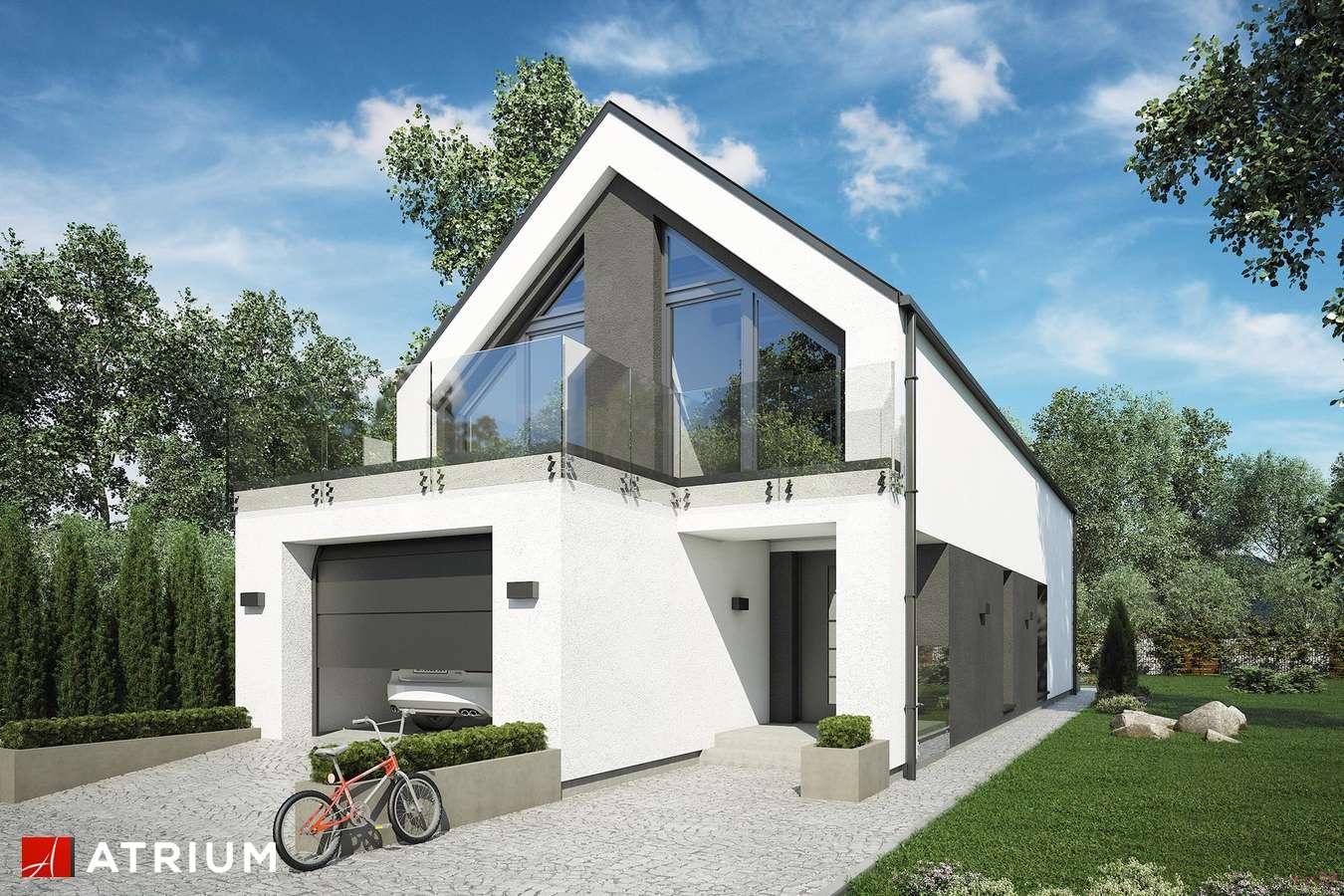 Projekty domów - Projekt domu z poddaszem BARI - wizualizacja 1 - wersja lustrzana