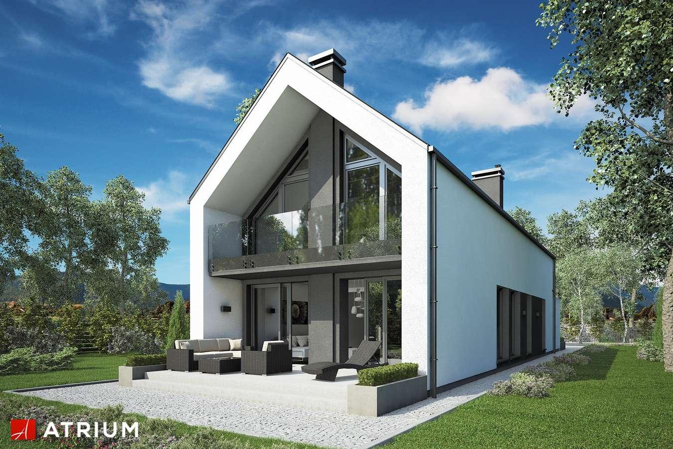 Projekty domów - Projekt domu z poddaszem BARI - wizualizacja 2 - wersja lustrzana