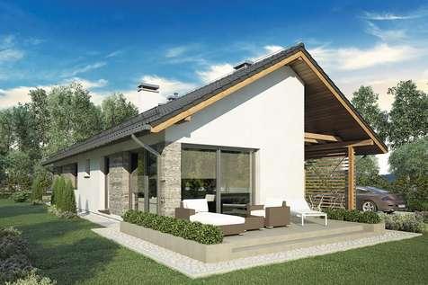 Projekt domu parterowego OLIMPIA - wizualizacja 1