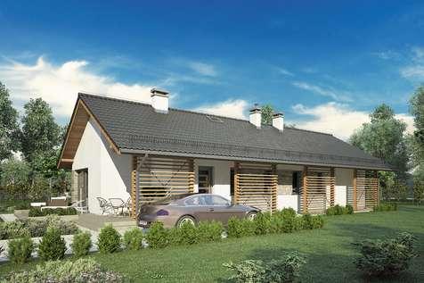 Projekt domu parterowego OLIMPIA - wizualizacja 2