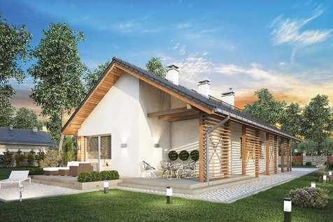 Projekt domu parterowego OLIMPIA II - wizualizacja 1
