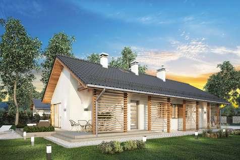Projekt domu parterowego OLIMPIA II - wizualizacja 2