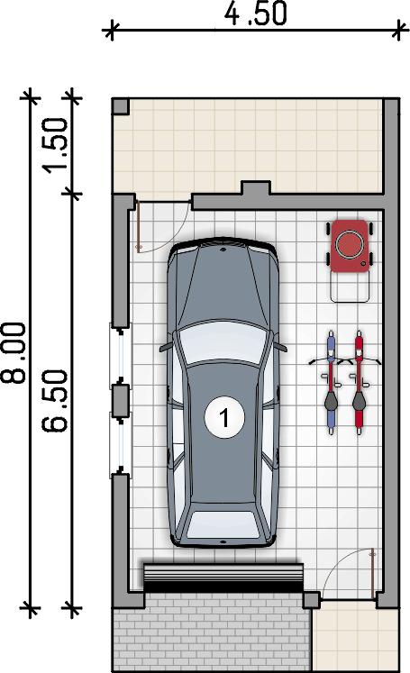 rzut parteru - Garaż Z 46