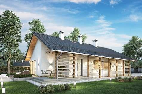 Projekt domu parterowego OLIMPIA PLUS - wizualizacja 1