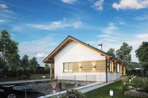 Projekt domu parterowego OLIMPIA PLUS - wizualizacja 2