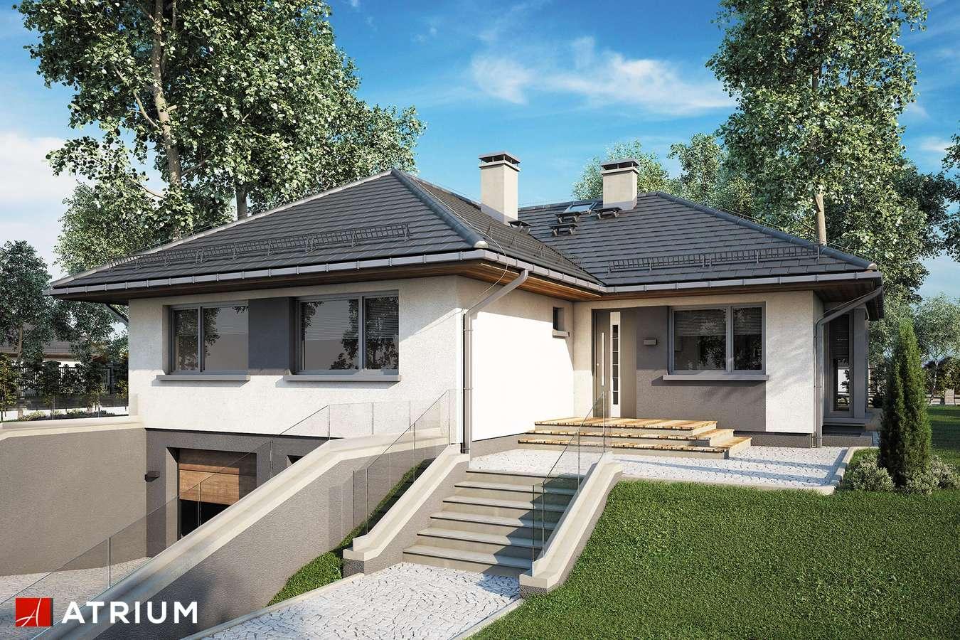 Projekty domów - Projekt domu parterowego GUSTAW II - wizualizacja 1
