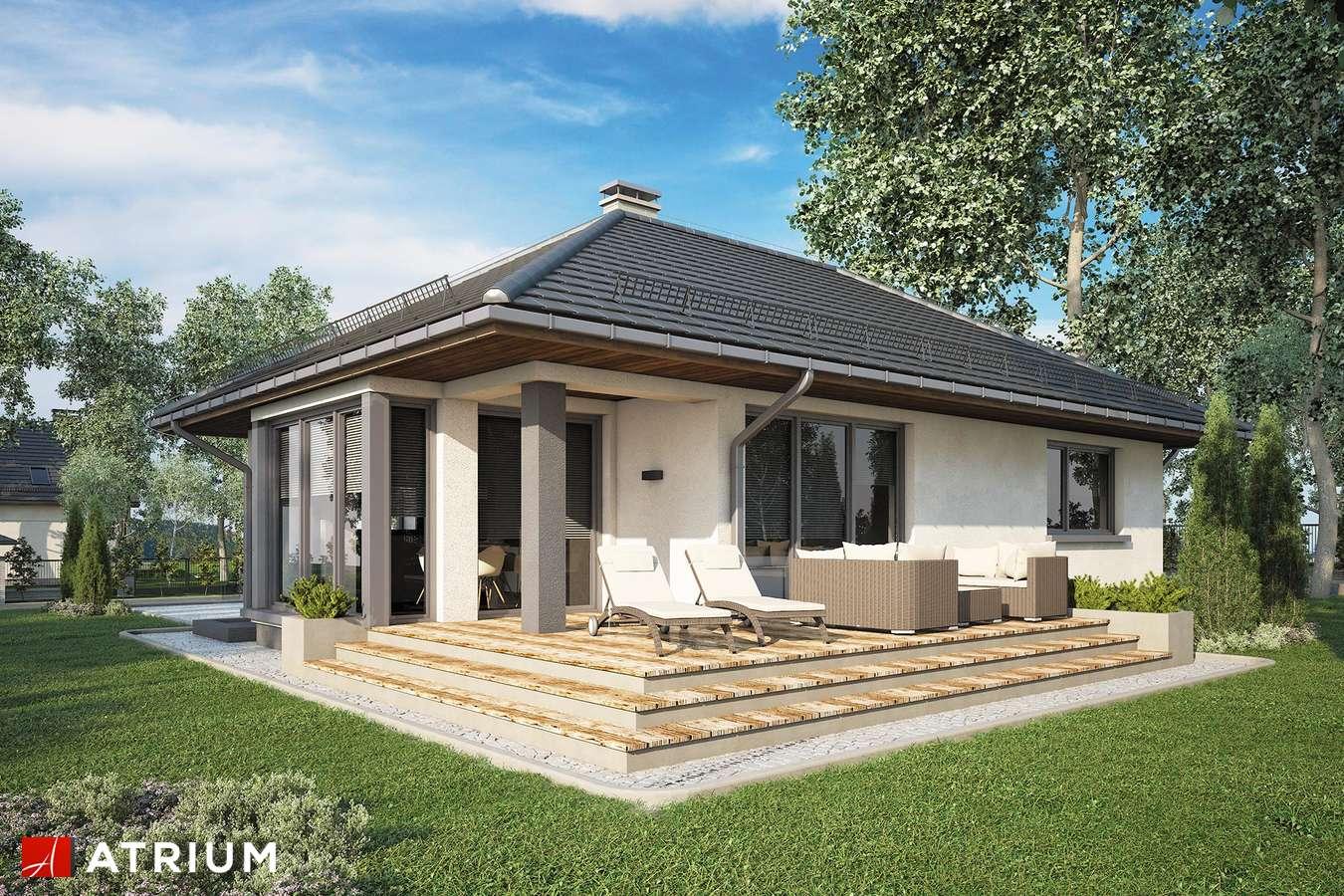 Projekty domów - Projekt domu parterowego GUSTAW II - wizualizacja 2