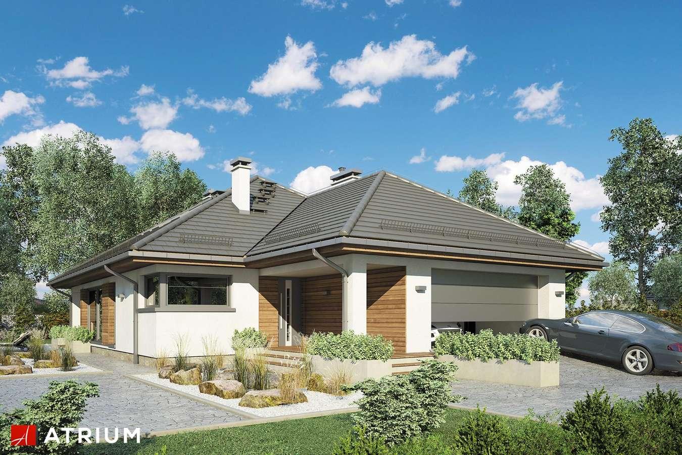 Projekty domów - Projekt domu z poddaszem KRASKA II - wizualizacja 1