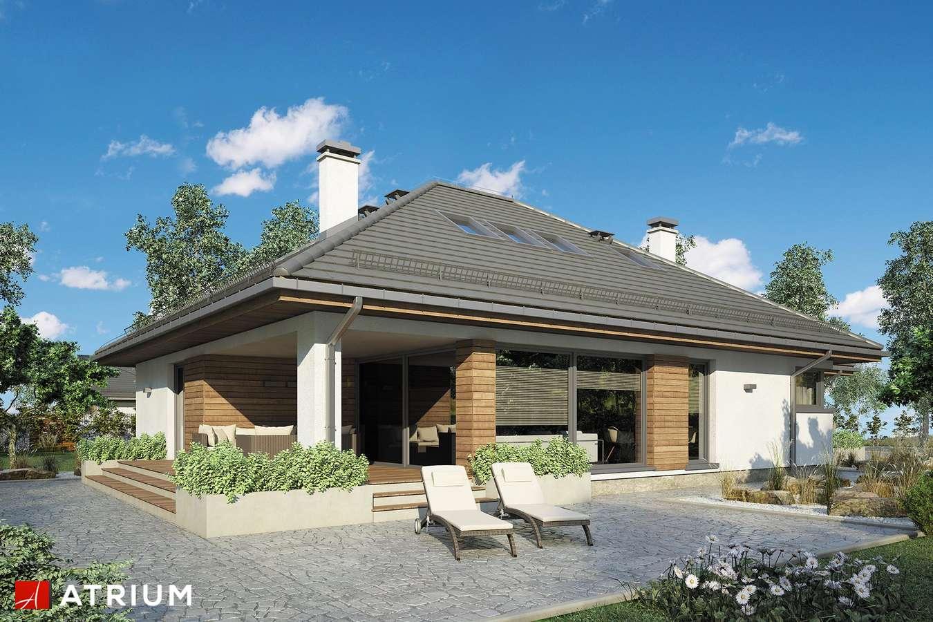 Projekty domów - Projekt domu z poddaszem KRASKA II - wizualizacja 2