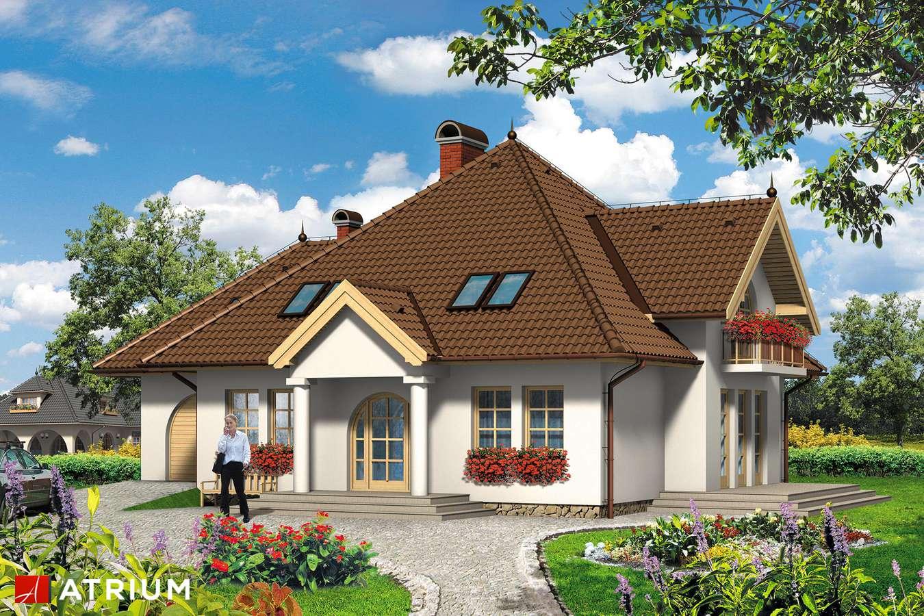 Projekty domów - Projekt domu z poddaszem PAN HRABIA - wizualizacja 1