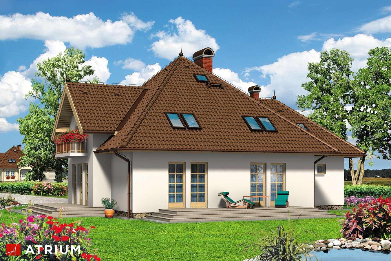 Projekty domów - Projekt domu z poddaszem PAN HRABIA - wizualizacja 2