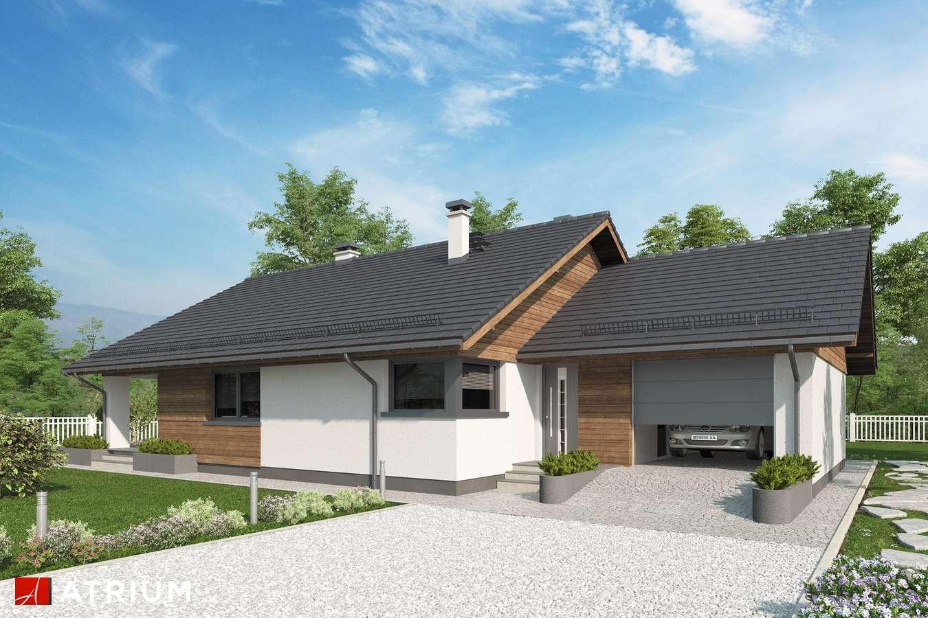 Projekty domów - Projekt domu parterowego KOS X - wizualizacja 1