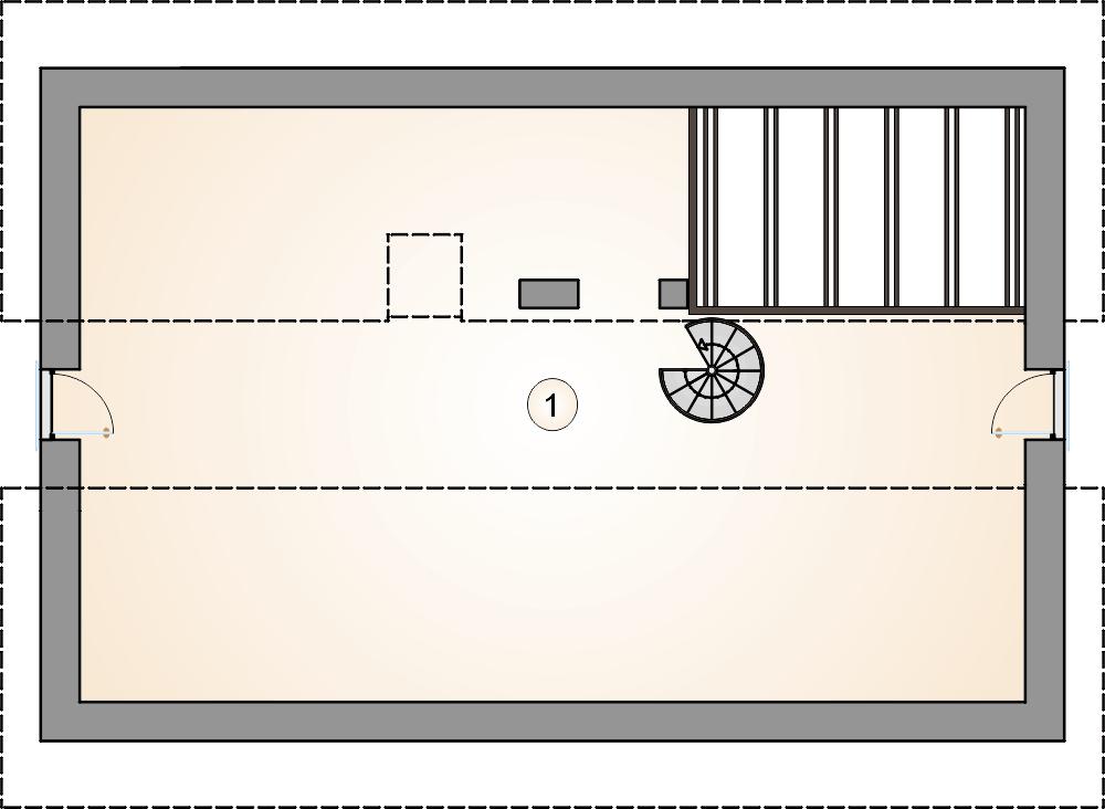 rzut poddasza - projekt Aurora Midi III