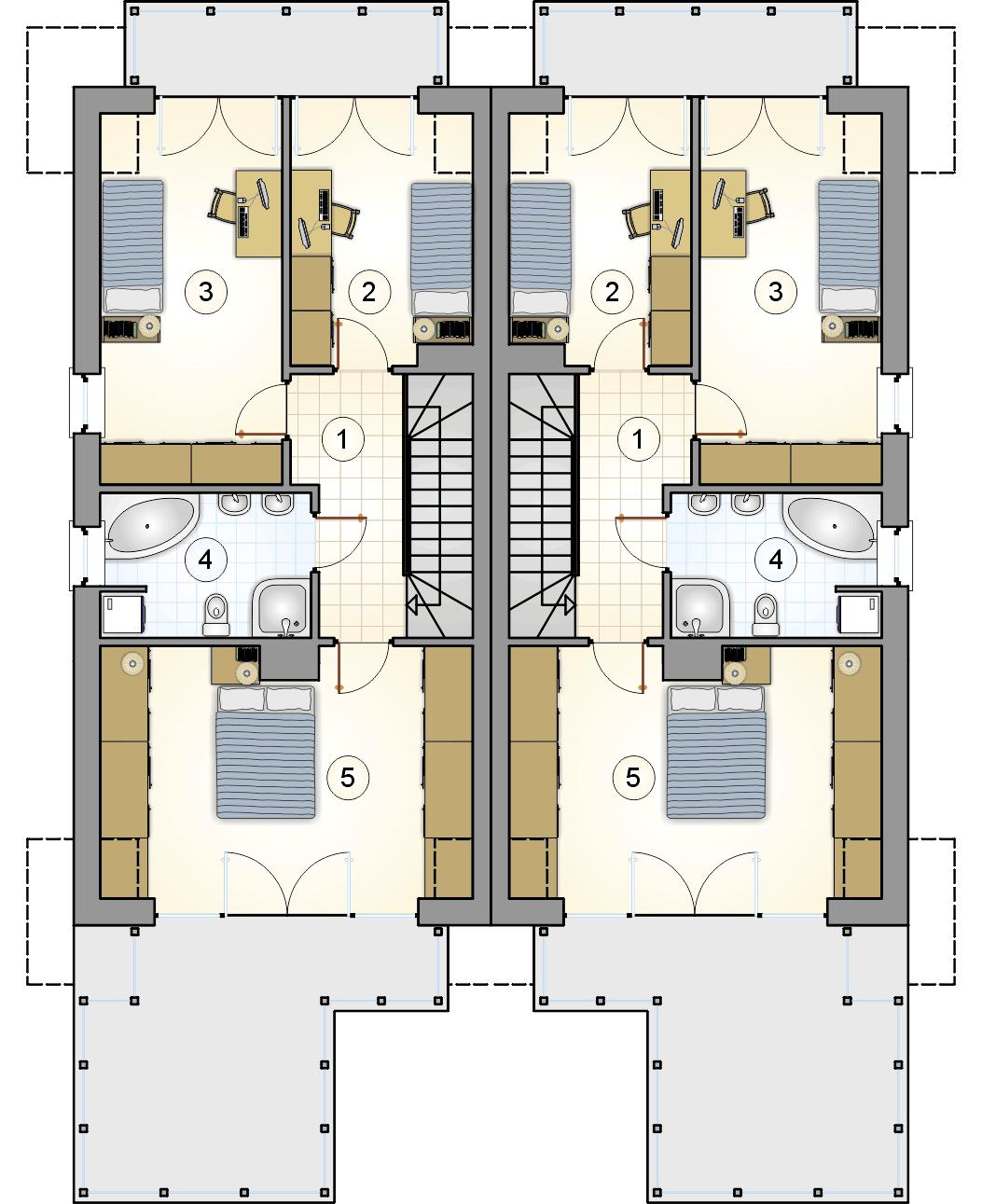 rzut poddasza - projekt Tandem IV