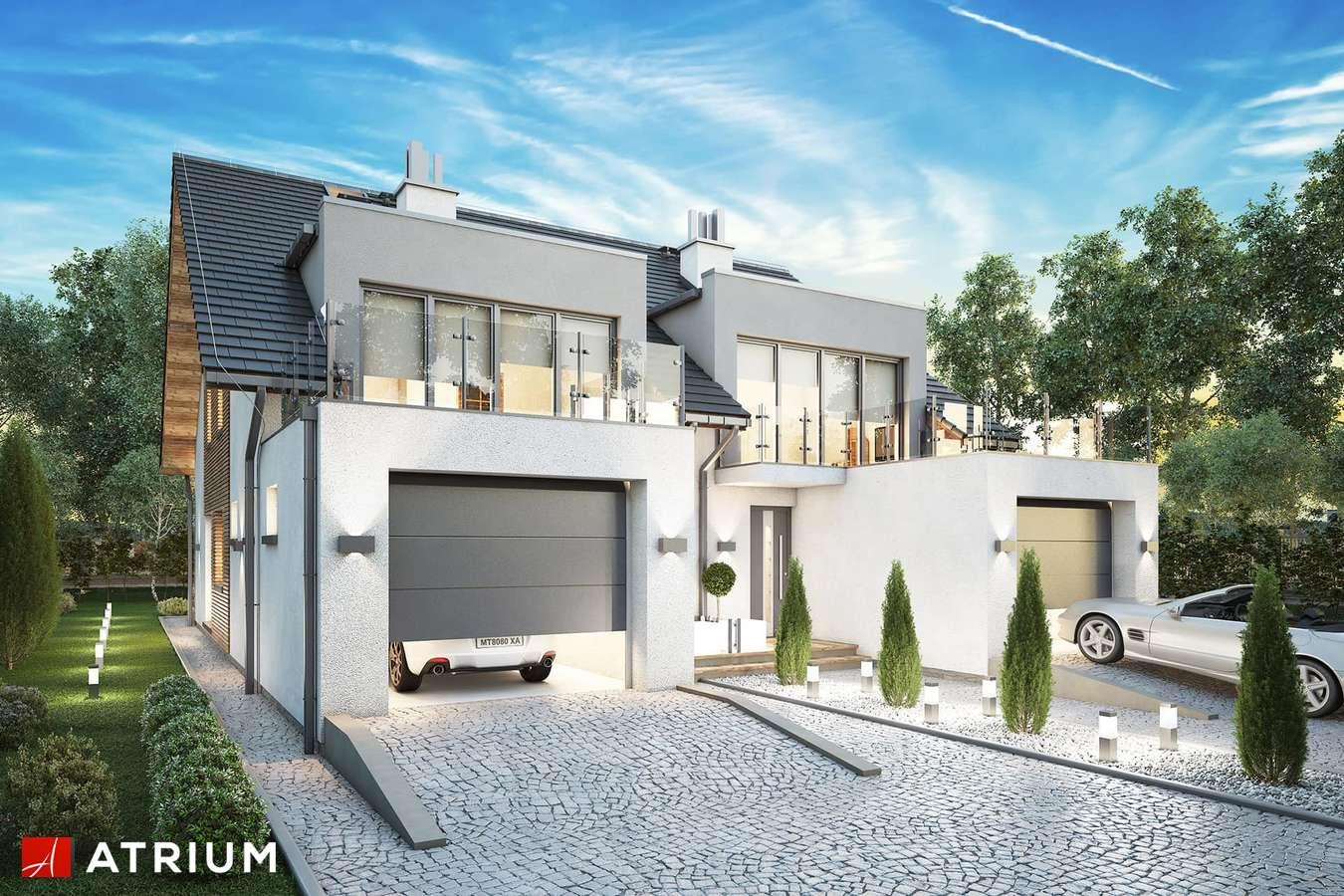 Projekty domów - Projekt domu z poddaszem TANDEM IV - wizualizacja 1