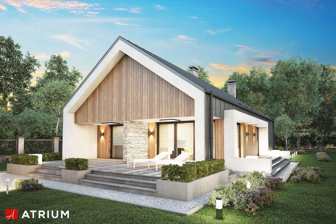 Projekty domów - Projekt domu parterowego LORENZO - wizualizacja 1 - wersja lustrzana