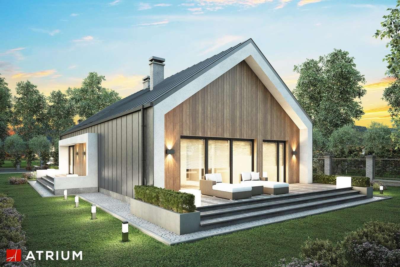 Projekty domów - Projekt domu parterowego LORENZO - wizualizacja 2 - wersja lustrzana