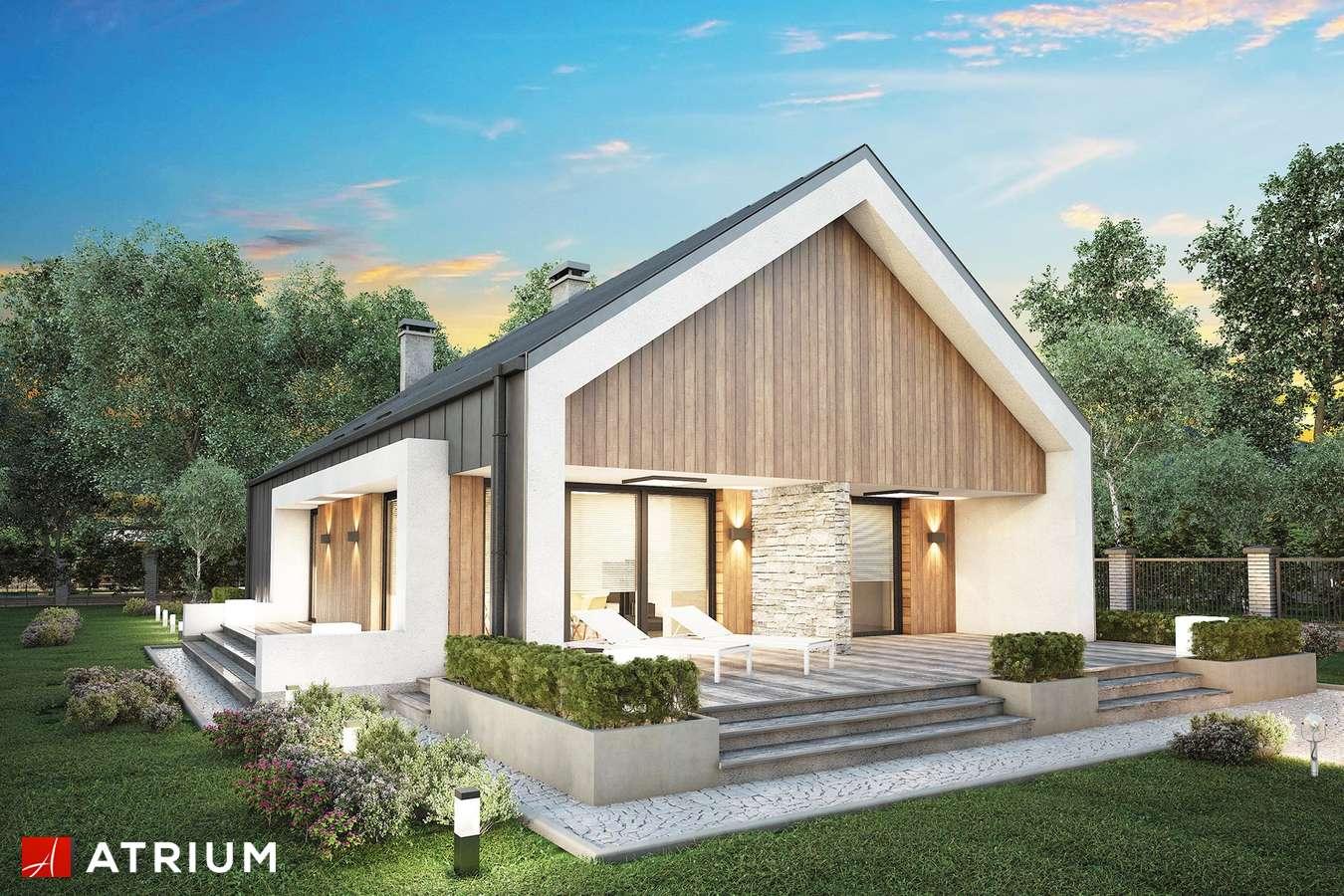 Projekty domów - Projekt domu parterowego LORENZO - wizualizacja 1