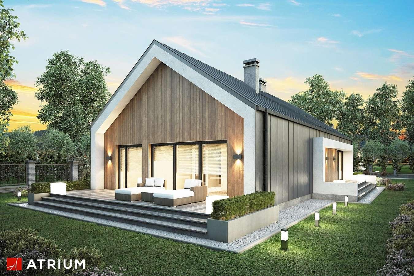 Projekty domów - Projekt domu parterowego LORENZO - wizualizacja 2