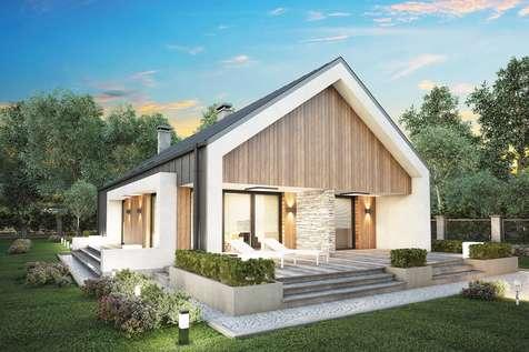 Projekt domu parterowego LORENZO - wizualizacja 1