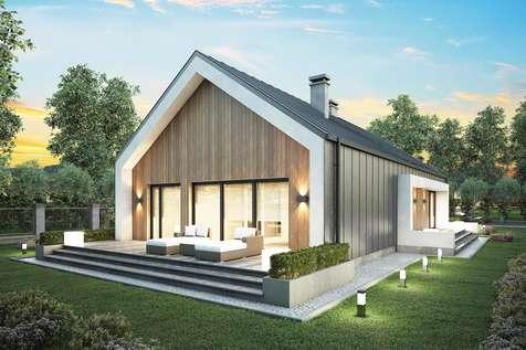 Projekt domu parterowego LORENZO - wizualizacja 2