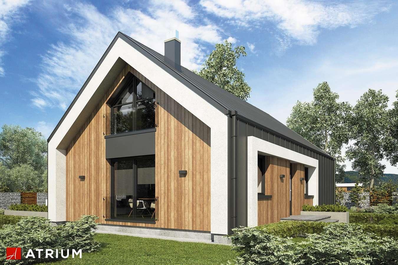 Projekty domów - Projekt domu z poddaszem AURORA MIDI III BIS - wizualizacja 1 - wersja lustrzana