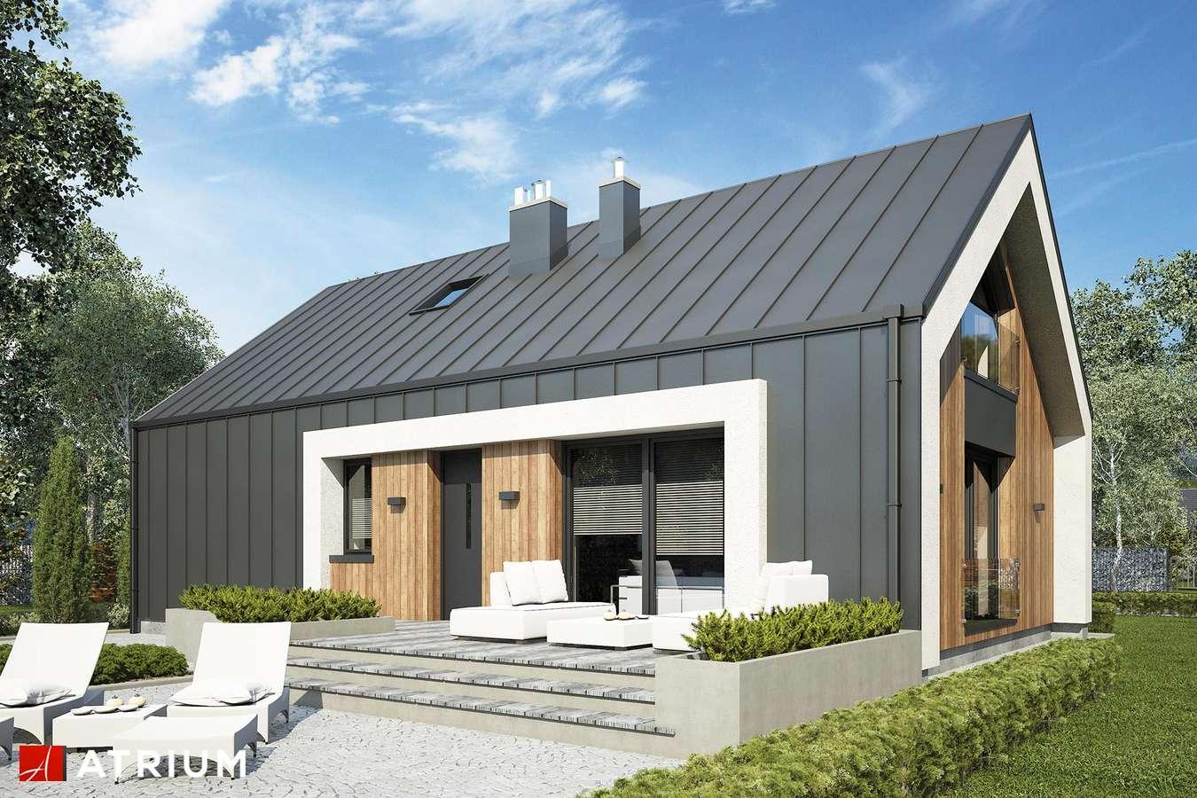 Projekty domów - Projekt domu z poddaszem AURORA MIDI III BIS - wizualizacja 2 - wersja lustrzana