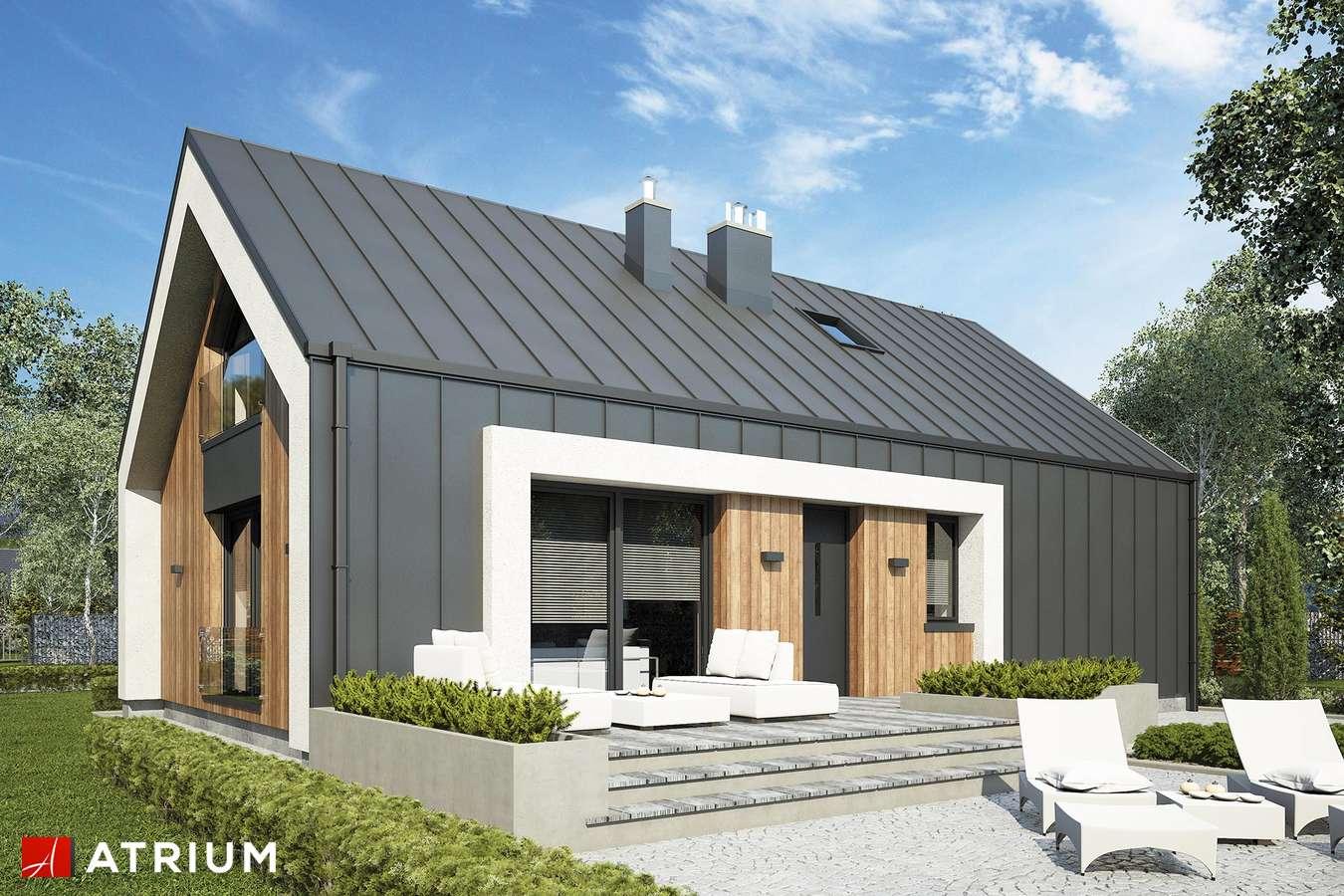 Projekty domów - Projekt domu z poddaszem AURORA MIDI III BIS - wizualizacja 2