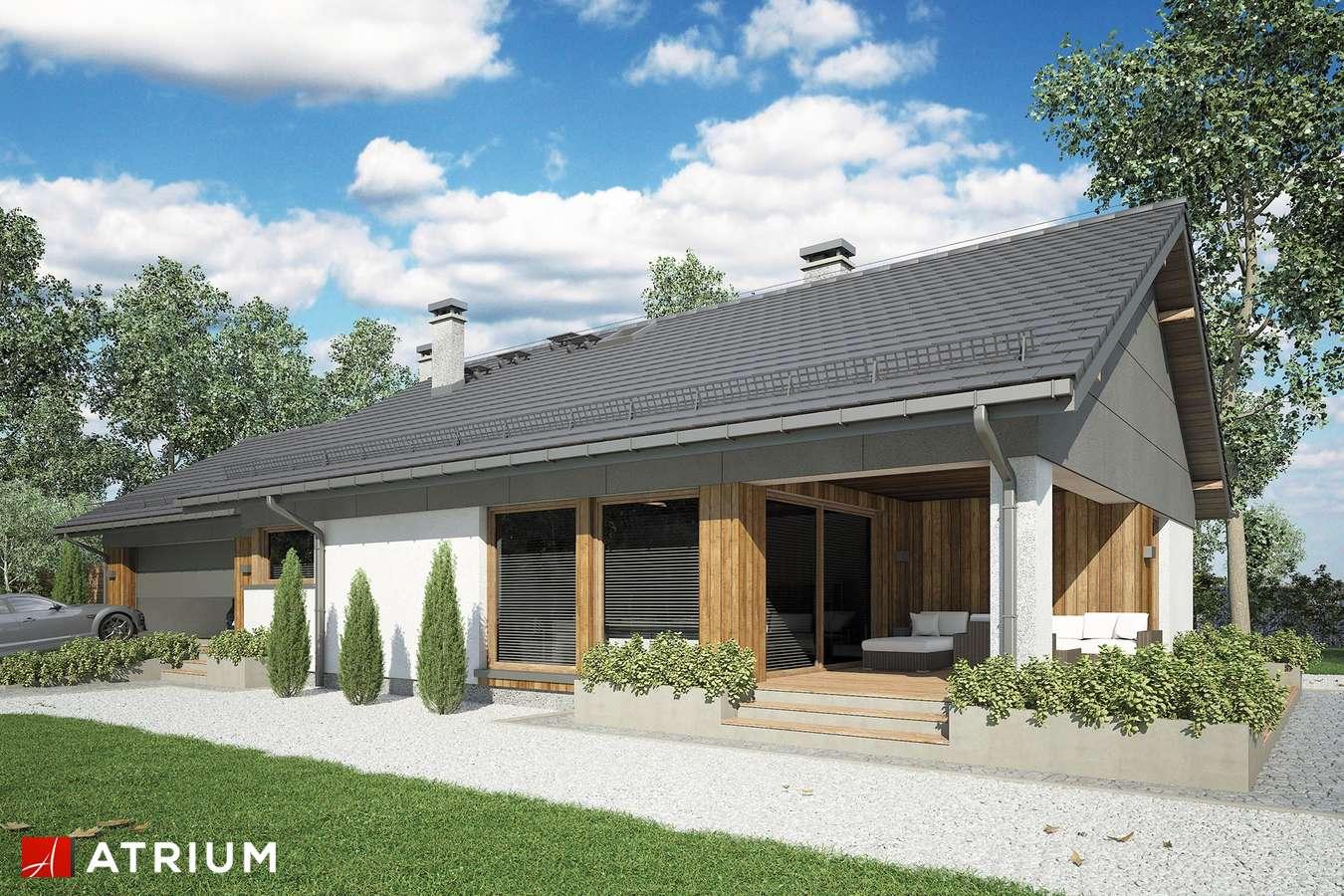 Projekty domów - Projekt domu parterowego KOS MINI II SZ - wizualizacja 2 - wersja lustrzana