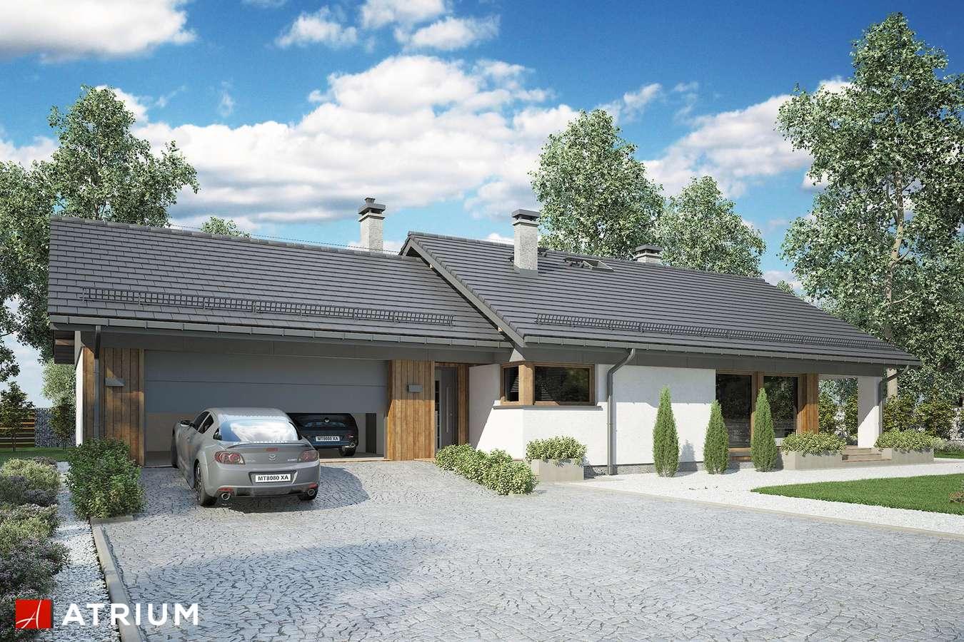 Projekty domów - Projekt domu parterowego KOS MINI II SZ - wizualizacja 1 - wersja lustrzana