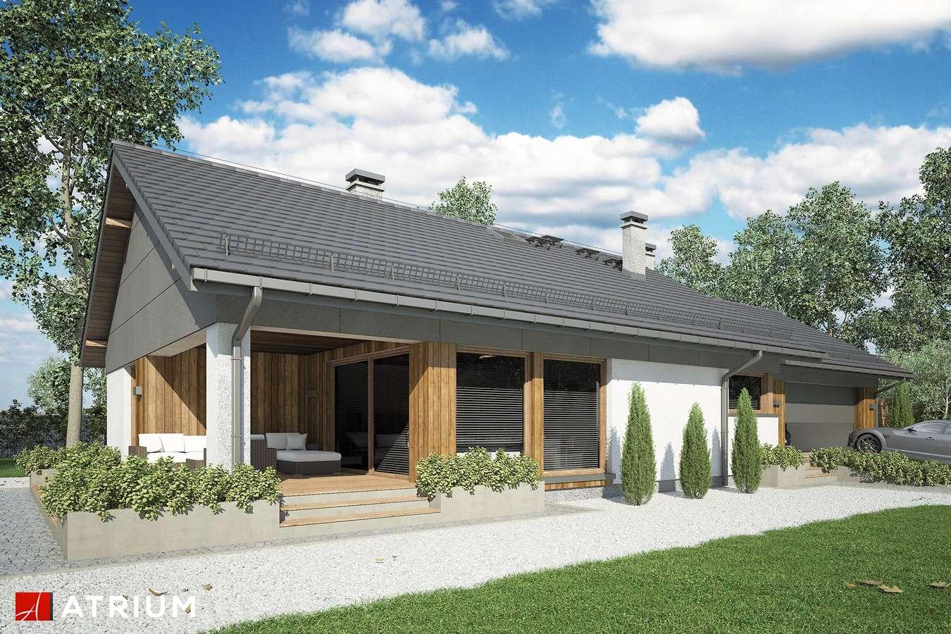 Projekty domów - Projekt domu parterowego KOS MINI II SZ - wizualizacja 2