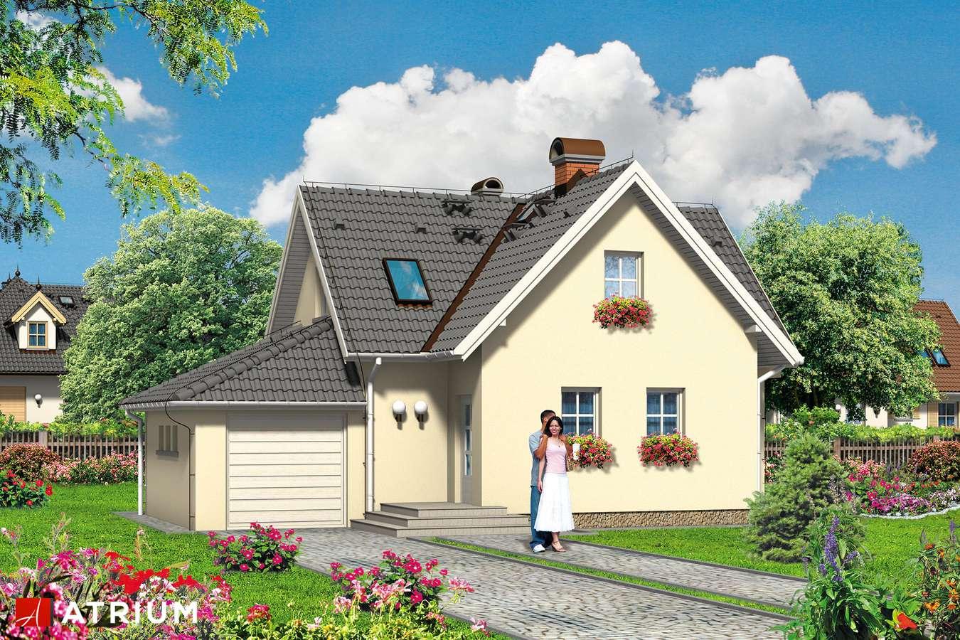 Projekty domów - Projekt domu z poddaszem MIKRUS - wizualizacja 1