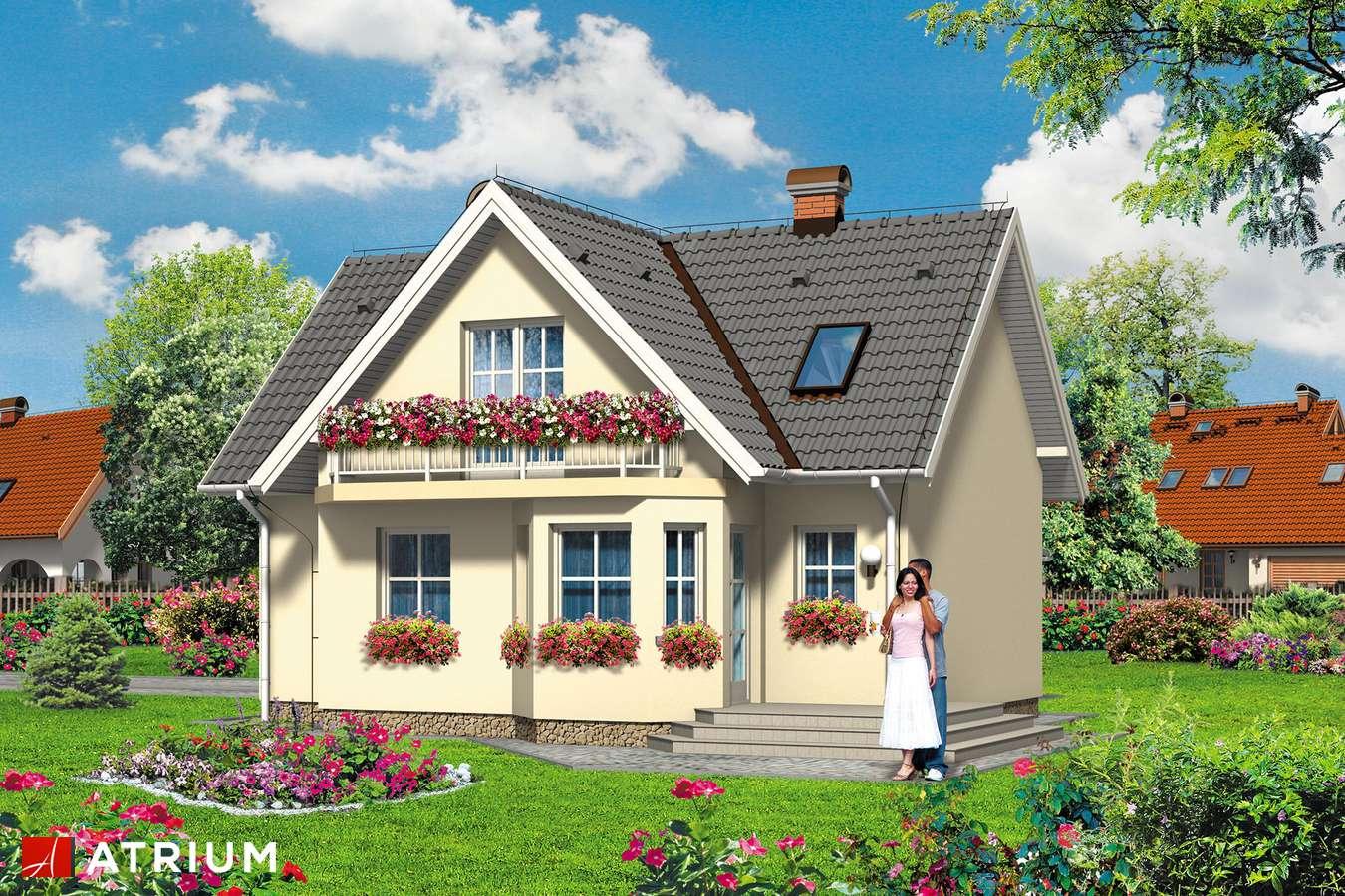 Projekty domów - Projekt domu z poddaszem MIKRUS - wizualizacja 2