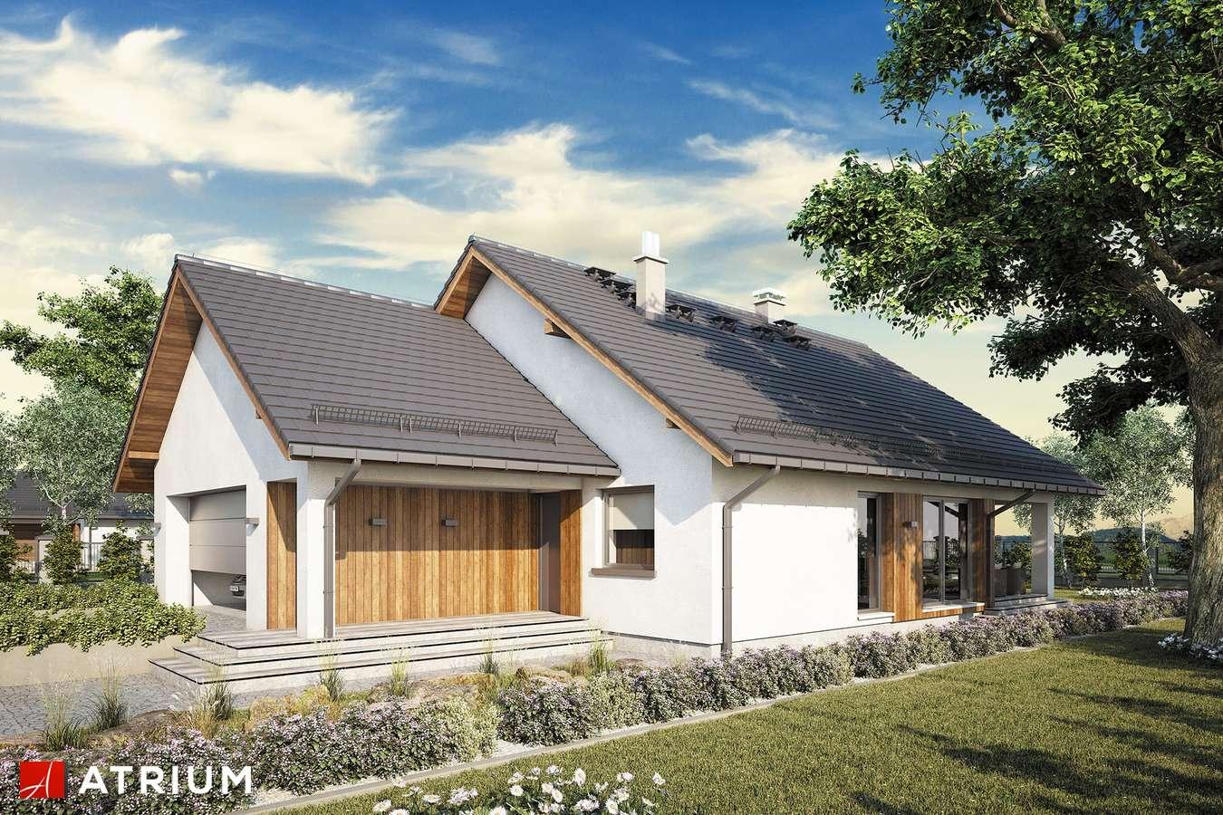 Projekty domów - Projekt domu parterowego BURSZTYN PLUS MAXI III - wizualizacja 1 - wersja lustrzana
