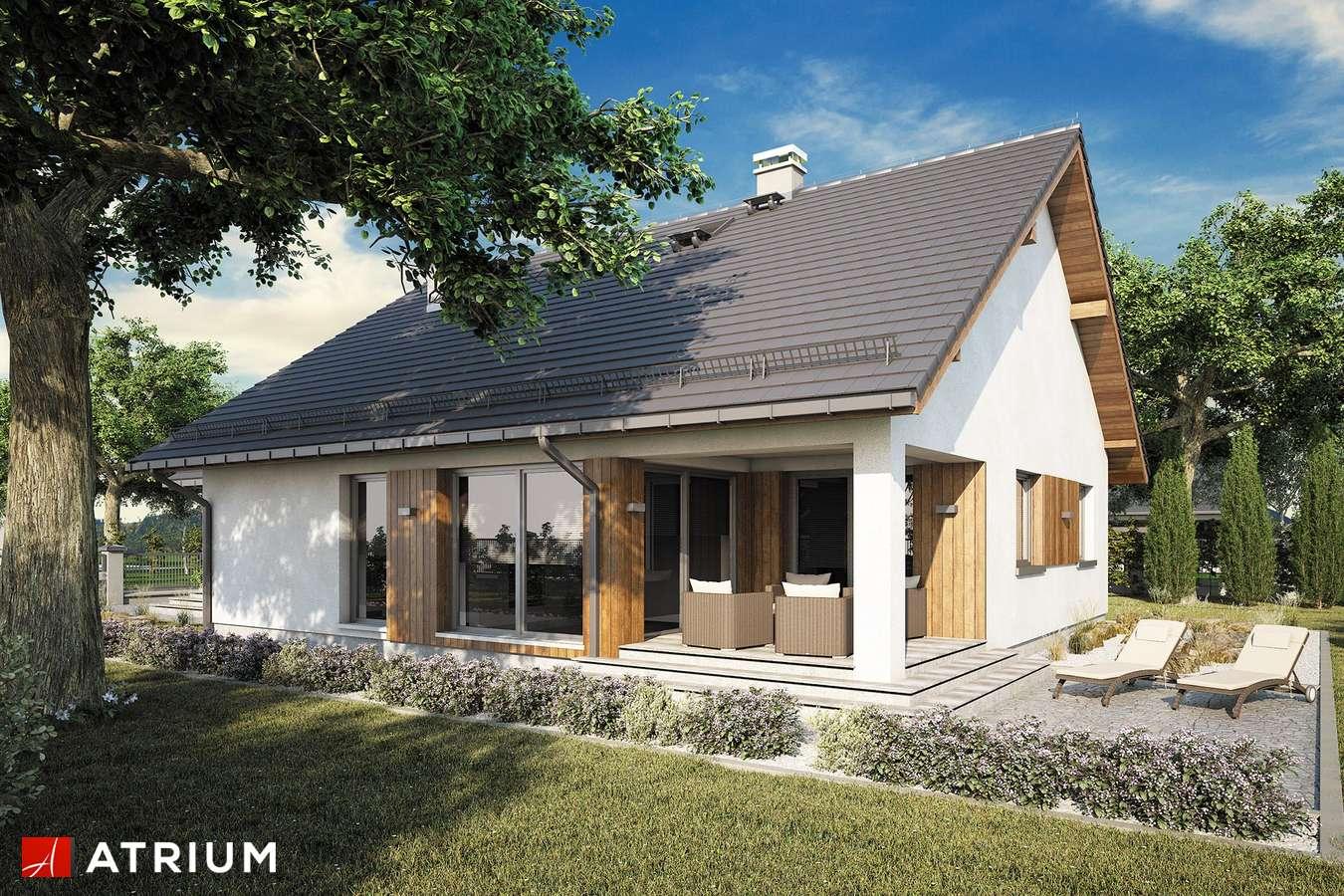 Projekty domów - Projekt domu parterowego BURSZTYN PLUS MAXI III - wizualizacja 2 - wersja lustrzana