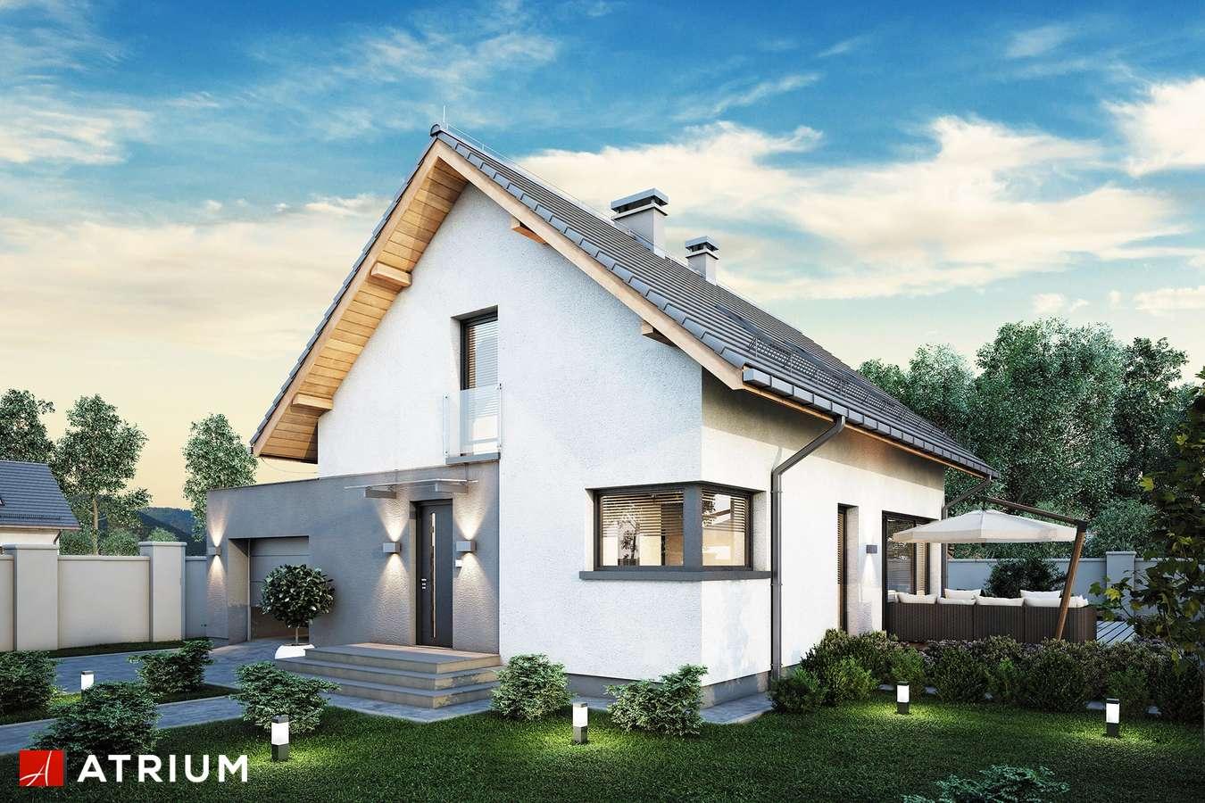 Projekty domów - Projekt domu z poddaszem FELIX V - wizualizacja 1 - wersja lustrzana