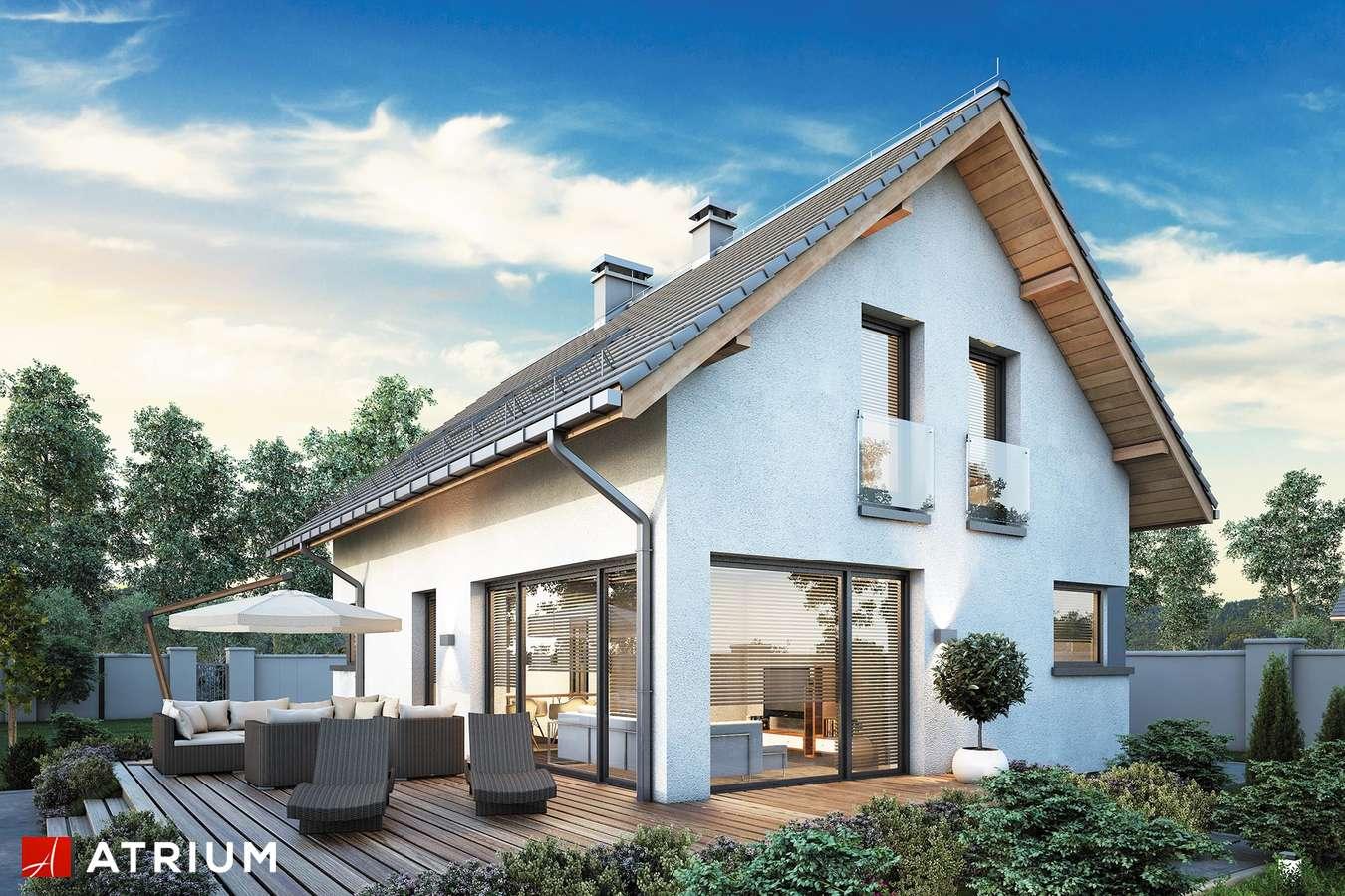 Projekty domów - Projekt domu z poddaszem FELIX V - wizualizacja 2 - wersja lustrzana