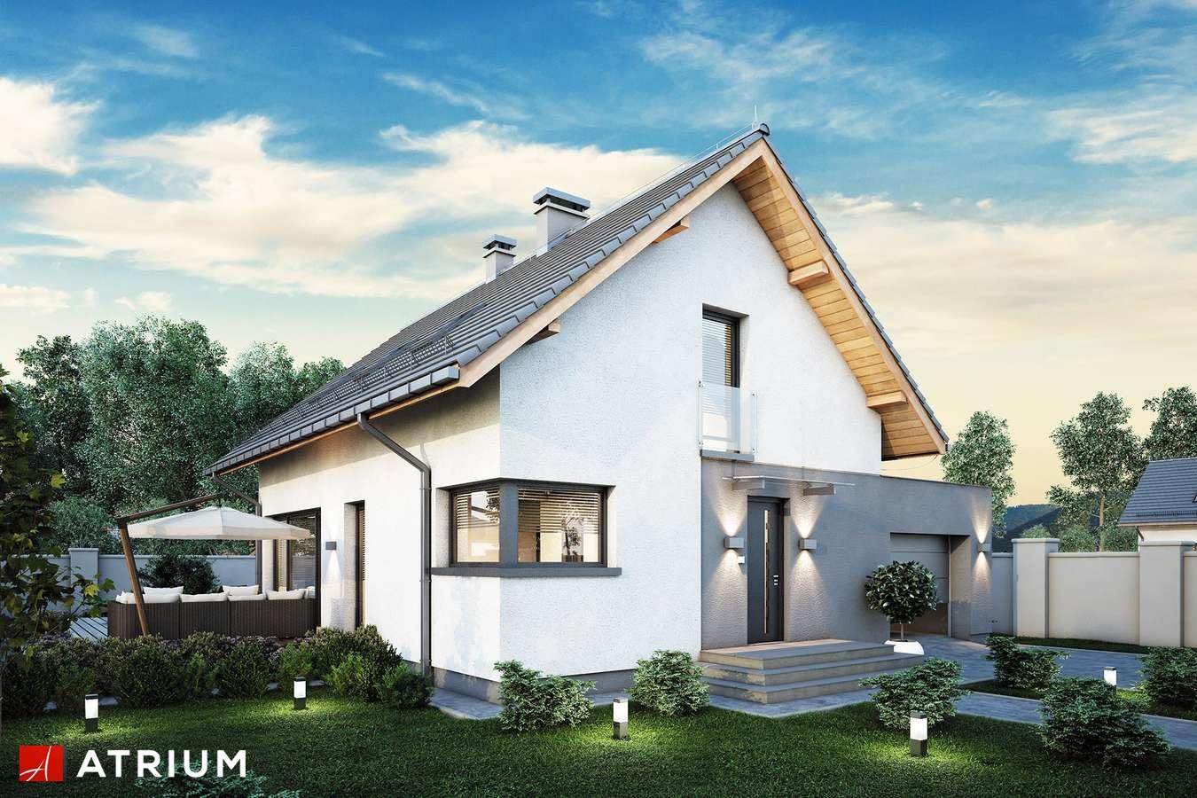 Projekty domów - Projekt domu z poddaszem FELIX V - wizualizacja 1