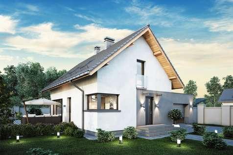 Projekt domu z poddaszem FELIX V - wizualizacja 1