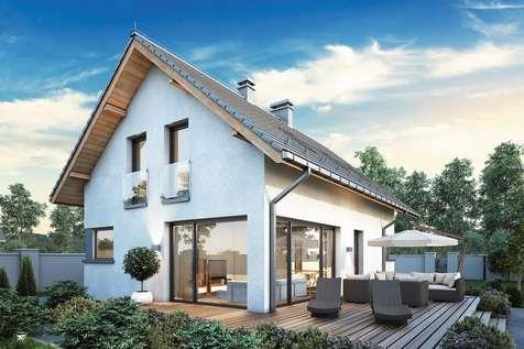 Projekt domu z poddaszem FELIX V - wizualizacja 2