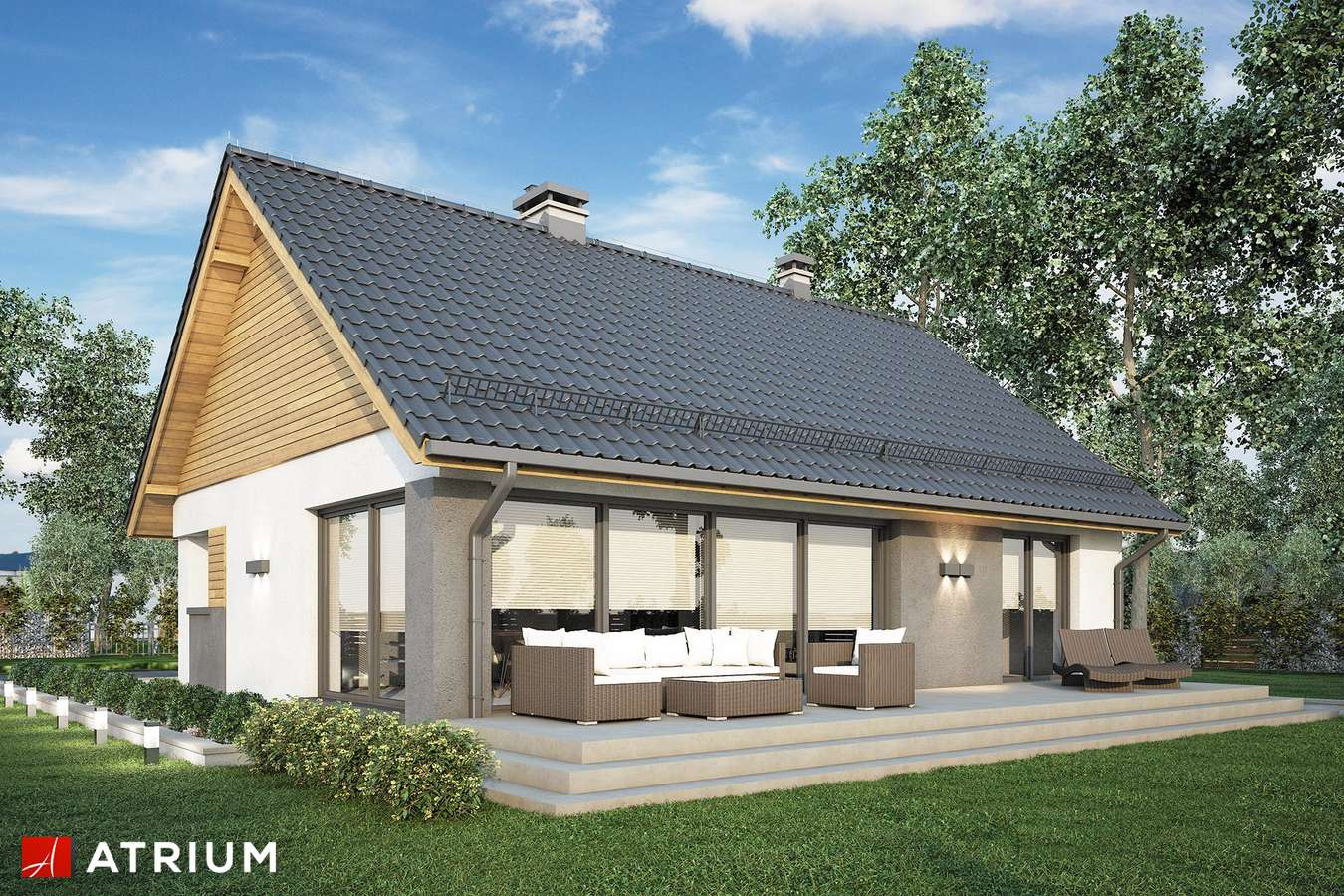 Projekty domów - Projekt domu z poddaszem RICARDO LIFT III - wizualizacja 2