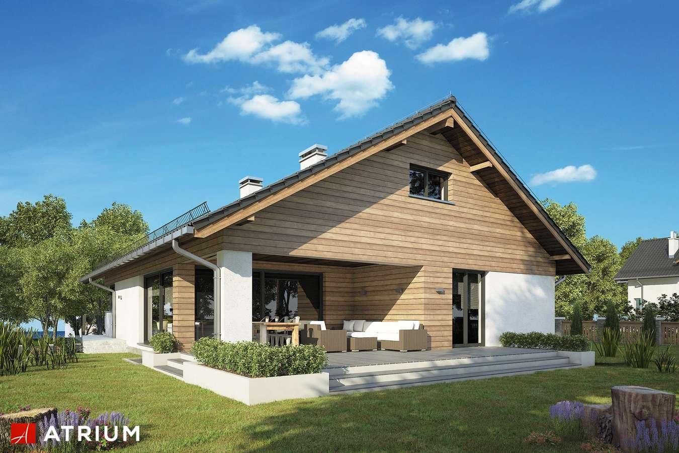 Projekty domów - Projekt domu z poddaszem RYś II - wizualizacja 2 - wersja lustrzana