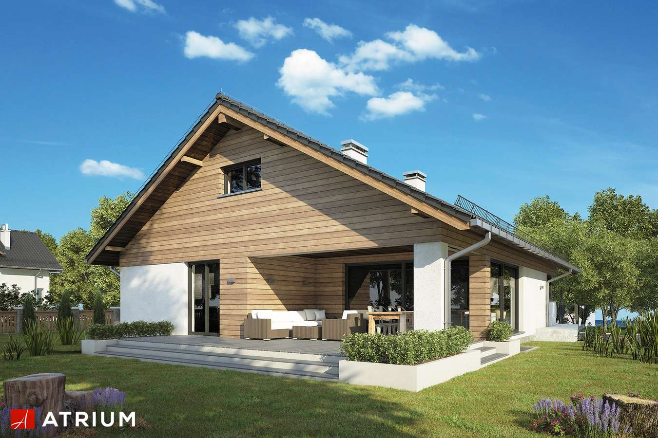 Projekty domów - Projekt domu z poddaszem RYś II - wizualizacja 2